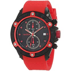Red Line Carbon Brake Mens Red Silicone Date Chronograph Watch RL-10109DV