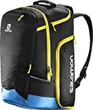 Salomon, Ski-Ausrüstungsrucksack (50 L), EXTEND GO-TO-SNOW GEARBAG, Schwarz/Blau (Black/Process Blue/Corona Yellow), L38261800