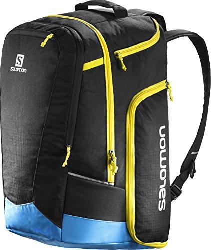 Salomon, Ski-Ausrüstungsrucksack (50 L), EXTEND GO-TO-SNOW GEARBAG, Schwarz/Blau (Black/Process Blue/Corona Yellow), L38261800