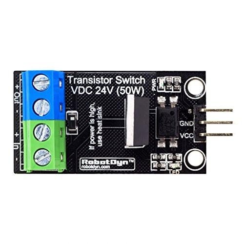 Ils - 5 Stücke Transistor MOSFET DC Schaltmodul 5V Logik DC 24V 30A mit Optokoppler