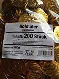 KARNEVAL FASCHING WURFMATERIAL 200 stk. GOLDTALER EUROMÜNZEN SCHOKOLADEN