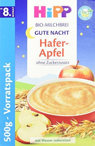 HiPP Gute-Nacht-Brei Hafer Apfel, 4er Pack (4 x 500 g)