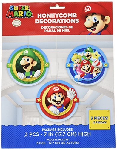 Amscan 291554 Super Mario Honeycomb Dekorationen