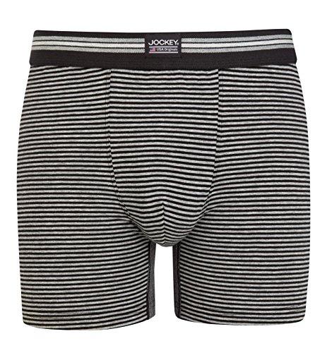 Jockey® Boxer Trunk 3Pack Black Stripe