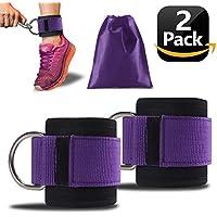 Preisvergleich für YOLOCE Premium Fußschlaufen - Gepolstert - Perfekt für Beintraining am Kabelzug - Gratis Tragebeutel - Flexibel Einstellbar für jedes Workout und Dein Po Training -2 Jahre Gewährleistung(2 Stück)