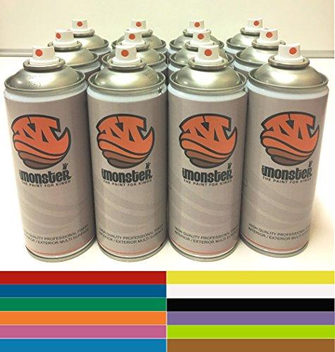 monster-premiere-spray-paint-12-can-black-n-white-box-deal-red-blue-green-yellow-white-black-orange-