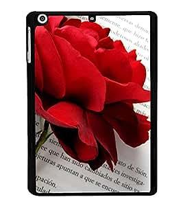 Fuson Designer Back Case Cover for Apple iPad Mini 3 :: Apple iPad Mini 3 Wi-Fi + Cellular (3G/LTE); Apple iPad Mini 3 Wi-Fi (Wi-Fi, W/o GPS) (rose lovely rose Beautiful Rose red Rose love)