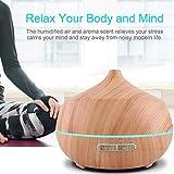 Aroma Diffuser 400ml Tenswall Luftbefeuchter Oil Düfte Humidifier Holzmaserung LED mit 7 Farben für für Yoga Salon Spa Wohn-, Schlaf-, Bade- oder Kinderzimmer Büro - 6