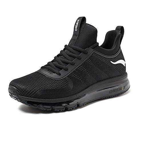 ONEMIX Air Running Uomo Scarpe da Corsa Ginnastica Sportive Sneaker Nero 39 EU
