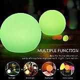 Luce di Umore del LED Ricaricabile, Lampada dello Stroboscopio Multifunzione del Partito di Halloween Natale, Colore di RGB Impermeabilizza IP65 ( Colore : 7.87inch Ball )