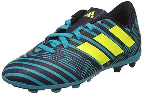 adidas Jungen Nemeziz 17.4 Fxg J Fußballschuhe, Mehrfarbig (Legend Ink /solar Yellow/energy Blue ), 34 (Fussballschuhe Jungen)