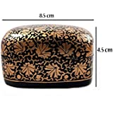 Hand Painted Authentic Kashmiri Paper Mache Craft Decorative Trinket Box |Multi Purpose Storage Like Jewellery/Cosmetics/ Men's Cufflinks/ Tie Clip Clasp/Rings/Home & Office Decoration Gifting Purpose