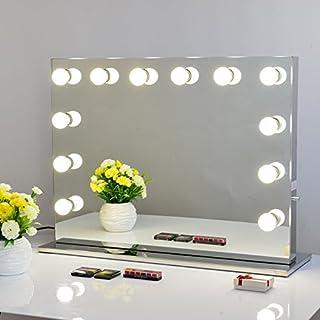 Chende Rahmenlos Schminkspiegel Mit Beleuchtung Bühne Kosmetikspiegel,  Schönheit Theaterspiegel Groß, LED Beleuchtet Schminktisch Spiegel