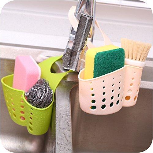 Generic Pink: vilead Wasser Aufbewahrungskorb Adjustable Snap Typ Badezimmer Aufbewahrungstasche Tank zum Aufhängen Rack machen