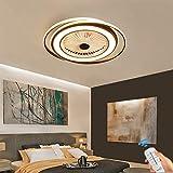 Unsichtbares Fan licht Einstellbar modern LED Deckenventilator mit Beleuchtung Schlafzimmer Fan Deckenleuchte Dimmbar Einfache Wohnzimmer leuchte mit Fernbedienung leise Ventilator für Kinderzimmer