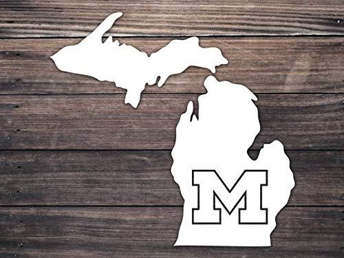 Celycasy Michigan M Go Blue Autoaufkleber Wolverines Mais und Gold Fußball Pure Michigan Home Roots Yeti State Sticker Mitten State Sticker -