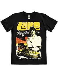 Star Wars - Luke Skywalker T-Shirt 100 % coton organique (agriculture biologique) - noire - design original sous licence - LOGOSHIRT