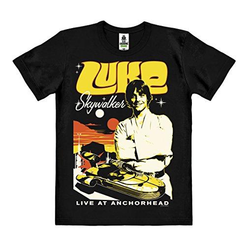 Star Wars - Luke Skywalker T-Shirt Organic Herren - Bio Baumwolle - organic cotton - schwarz - Lizenziertes Originaldesign - LOGOSHIRT, Größe XXL