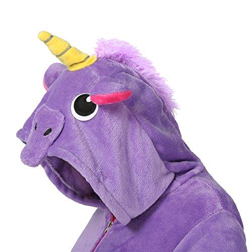 Donna Unicorno Cappotto Animali Cosplay Pigiama Casuale Kawaii Felpe Con Cappuccio Cerniera Primavera e Autunno Purple