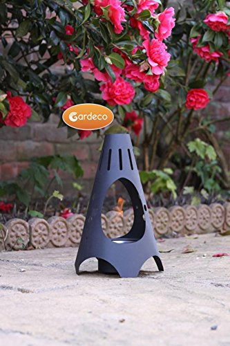 Garden Outdoors Or Indoors Mini Cono Fire Gel Burner Heater Including One Tin Of Fire Gel