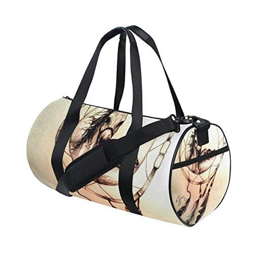 jstel Atrapasueños caballo bolsa de deporte gimnasio para hombres y mujeres bolsa de viaje de viaje