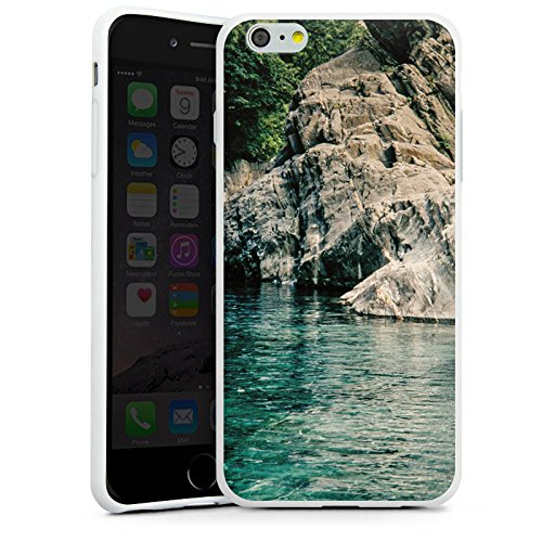 Apple iPhone X Silikon Hülle Case Schutzhülle Felsen Meer Bucht Silikon Case weiß