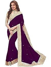 Vivan Trendz Women's Chiffon Saree With Blouse Piece