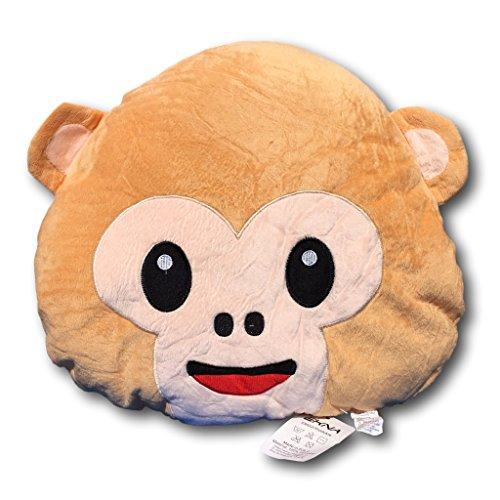 Ekna emoticon emoji-con emotikon cuscino cuscino del divano peluche morbido con selezione smiley scimmie fantasma kacki haufen mucchi scimmia