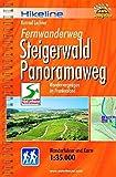 Hikeline Fernwanderweg Steigerwald Panoramaweg (Frankenwald) 160 km: Wandervergnügen in Franken - Wanderführer und Karte 1: 35 - 000, wetterfest - Esterbauer