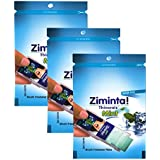 Ziminta Sugar Free Mint Mouth Freshener - 30 Strips (Mint Flavour, Blue) - Pack Of 3