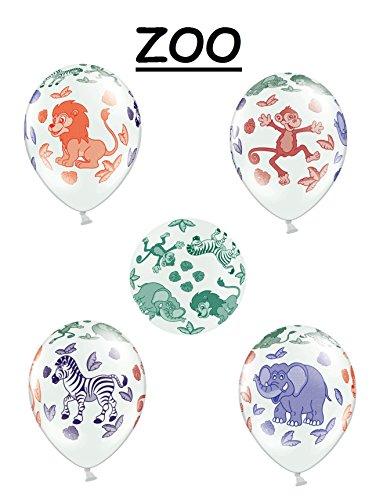 ns mit Tieren Party Geburtstag Jahrestag Heliumgeeignet (Zoo) (Zoo Tier)