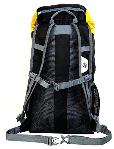 Terra Peak Rucksack Fusion, 30 x 10 cm, 32 Liter Black/Yellow