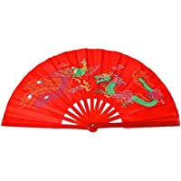LadyBeauty Kung Fu Tai Chi - Ventilador Plegable de bambú para Bailar