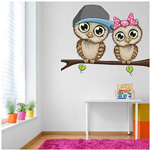 azutura Baby Owls Sticker Muraux des Oiseaux Autocollant Mural Garderie pour bébés Décoration intérieure Art Disponible en 8 Tailles Petit Numérique
