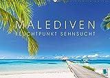 Die Malediven: Fluchtpunkt Sehnsucht (Wandkalender 2019 DIN A2 quer): Malediven Inselgruppe: Poesie im Pazifik (Monatskalender, 14 Seiten ) (CALVENDO Orte)