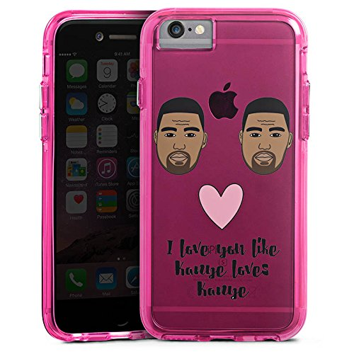 Apple iPhone 7 Bumper Hülle Bumper Case Schutzhülle Motiv ohne Hintergrund Kanye West Statement Bumper Case transparent pink