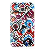 Print Masti Designer Back Case Cover for Samsung Galaxy J3 Pro :: Samsung Galaxy J3 (2017) (Pink Square Circle Black Dot) best price on Amazon @ Rs. 450