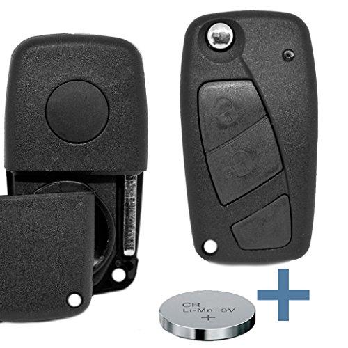 Pieghevole Portachiavi di sip22Radio chiave telecomando auto chiave 2tasti + Batterie per Fiat/IVECO/LANCIA/PEUGEOT/CITROEN