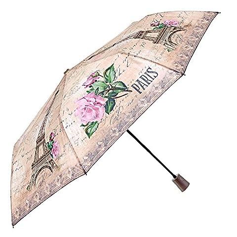 Parapluie femme automatique de voyage fantaisie ville – Parapluie pliant
