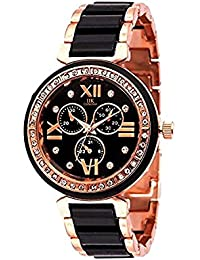Fastrail Slimstyle Black Dial Dual Colour Chain Watch For Women And Girls-FSTM016