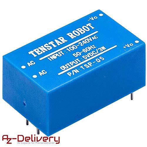 AZDelivery ⭐⭐⭐⭐⭐ 220V a 5V Fuente de alimentación Mini para Arduino y Raspberry Pi