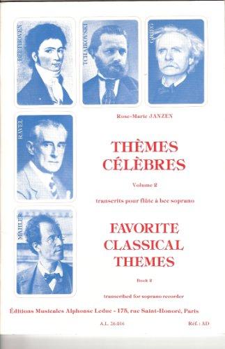 Rose-Marie Janzen: Themes Clbrs Vol.2 (Sop) (Recorder Solo)