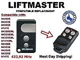 Liftmaster 84330e, 84333e, 84335E, 8747E, 84330EML, 84333EML, 84335EML, 8747EML, 94330E, 94333E, 94334E, 94335E, 9747e Kompatible Ersatz-Hochwertige Kompatible Fernbedienung Duplikator Ersatz, 433,92MHz