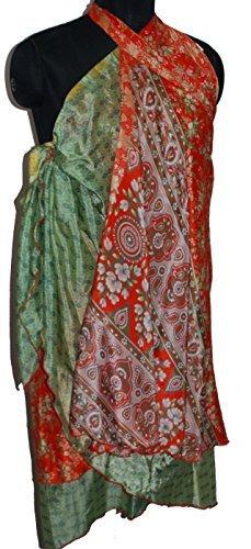 Assorted ST-151136 One Size Wevez Womens Long Indian Wrap Sari Skirt