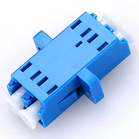 10PCS Fiber Coupler LC Singlemode Fiber Adapter Connector Duplex Coupler