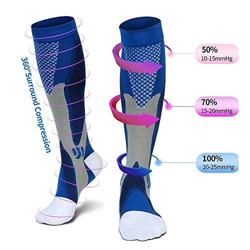 Verstellbare medizinische Knöchelbandage magnetisch Knöchelbandage Kupfer Kompressionsriemen Achillessehne Verstauchung Medium Blue Paar