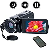 Videokamera Camcorder Full HD 1080p Kamera 24.0MP Digitalkamera Nachtsicht Vogging Kamera 18X Digitaler Zoom mit Fernbedienung