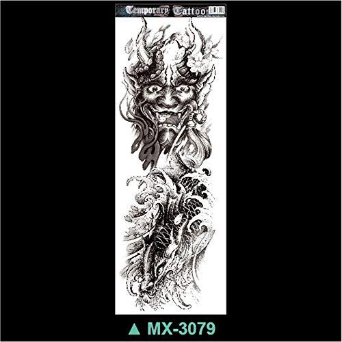 骷髅 voller Arm tätowieren Aufkleber voller Arm tätowieren Tätowierung Aufkleber großes Bild mechanischer 3pcs 11 ()