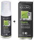 Logona Mann Rasierschaum 150 ml und Mann After Shave Balsam 50 ml im Set für die perfekte Männerhaut