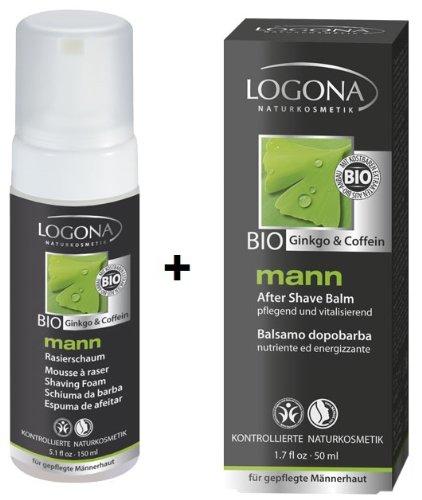 Logona Mann Rasierschaum 150 ml und Mann After Shave Balsam 50 ml im Set für die perfekte...